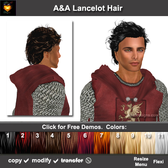 Prime Second Life Marketplace Aa Lancelot Hair 11 Colors Variety Pack Schematic Wiring Diagrams Amerangerunnerswayorg