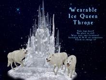 Boudoir-Wearable Winter Queen Throne