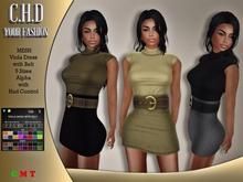 [C.H.D] Viola Dress with Belt