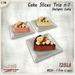 [Ginger Line] Cake Slice Trio 1 - Delight Cake: Chocolate, Cream, Maraschino, 1 LI each