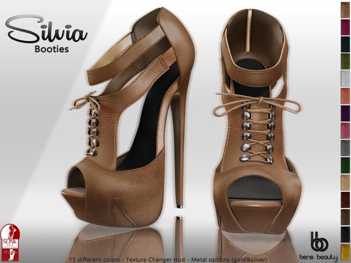 %50 PROMO Bens Boutique - Silvia Booties - Tex Changer Hud - (Slink High)