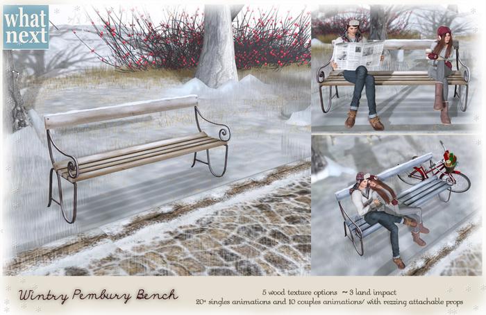 {what next} Wintry Pembury Park Bench