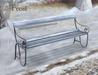 Wintry pembury bench frost