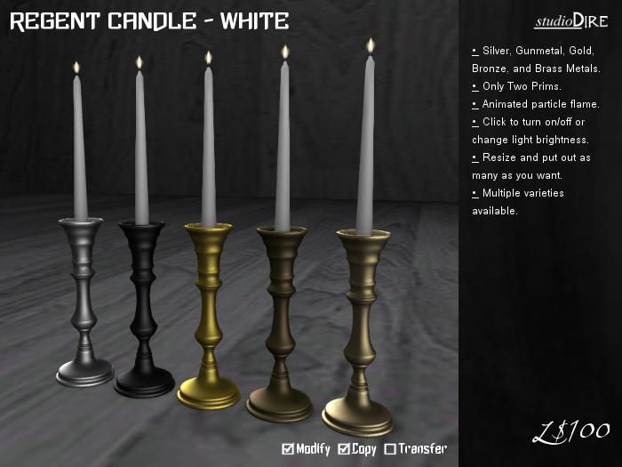 /studioDire/ Regent Candle - White