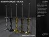 /studioDire/ Regent Candle - Black