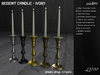 /studioDire/ Regent Candle - Ivory