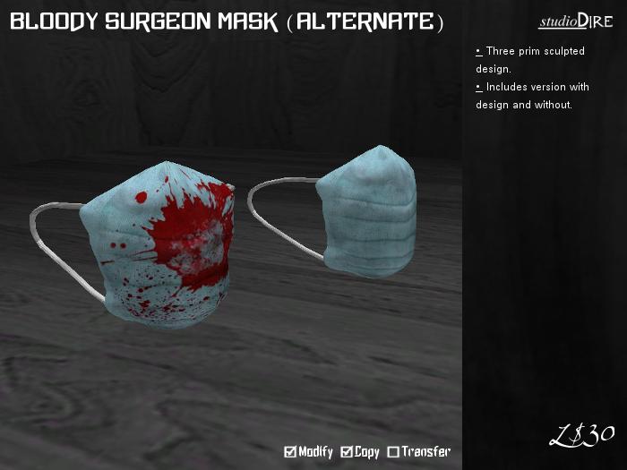 /studioDire/ Bloody Surgeon Mask (Alternate)