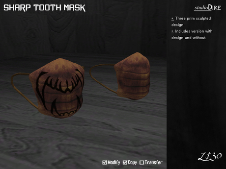 /studioDire/ Sharp Tooth Mask