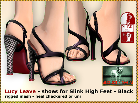 Bliensen + MaiTai - Lucy Leave - shoes for Slink High - Black