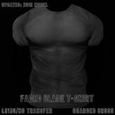 * Guarded Cross * Faded Black T-Shirt