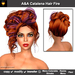 A&A Catalena Hair Fire (Special Color). Super elegant romantic updo with curls