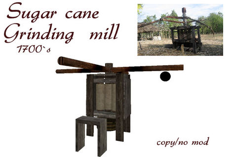 Sugar cane grinding mill