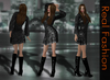REAL FASHION Lace dress and boots BLACK