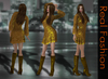 REAL FASHION Lace dress and boots GOLDEN