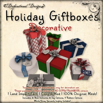 [DDD] Holiday Gift Boxes - Decorative