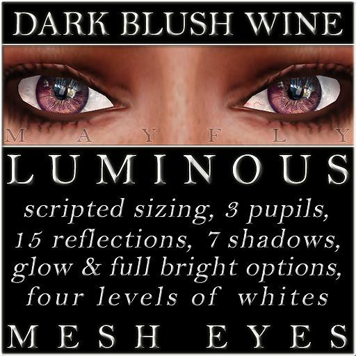 Mayfly - Luminous - Mesh Eyes (Dark Blush Wine)