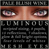 Mayfly - Luminous - Mesh Eyes (Pale Blush Wine)