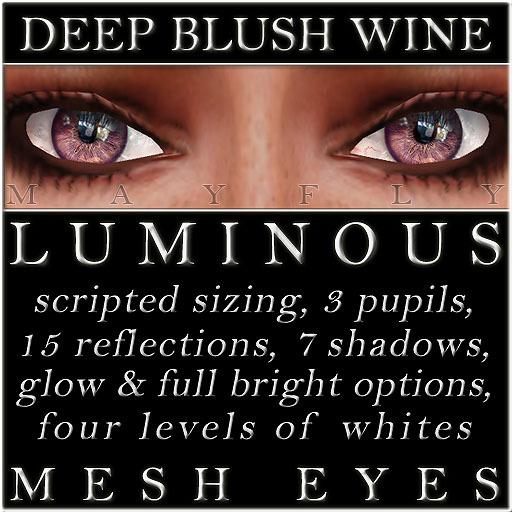Mayfly - Luminous - Mesh Eyes (Deep Blush Wine)