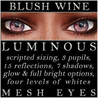 Mayfly - Luminous - Mesh Eyes (Blush Wine)