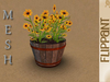 Sunflowers in Barrel [MESH]