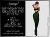 Savage! Sexy Bodysuit with Gloves - Green (Lolas, PhatAzz, TMP, Slink, Omega)