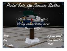 Postal Pete the Snowman Mailbox
