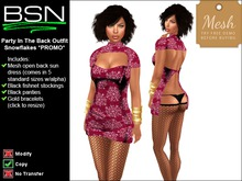 BSN Party In The Back Outfit - Snowflakes *PROMO*