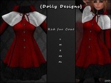 {Dolly Designs} Red fur Coat