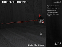 /studioDire/ Lotus Flail Hairstick