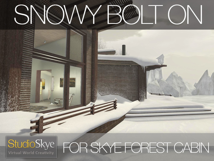 SNOWY BOLT ON for Skye Luxury Forest Cabin