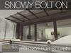 Skye forest cabin snowy 5