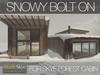 Skye forest cabin snowy 7