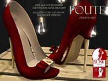 Poute- Under Lock & Key High Heels- Burgundy