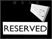 T-3D Creations [ RESERVED - C ] Regular MESH - Full Perm -