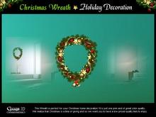 Gaagii - Christmas Wreath ~ Holiday Decoration