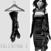 Valentina E. Dahlia Latex Opera Gloves