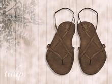 tulip. Weathered Leather Sandals (Dirt)