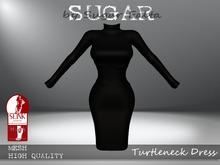 SUGAR - Turtleneck Dress - BLACK - BOXED - PROMOTIONAL SALE!
