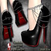 ~Black Arts~Cordelia Heels Silver for Slink High Feet