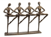 Ballet Quartet - Bronze Sculpture - CUTOUT