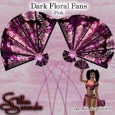 *Silken Surrender* Fans, Dark Floral, Pink