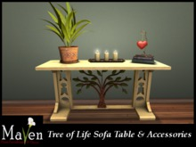 Tree of Life Sofa Table & Accessories