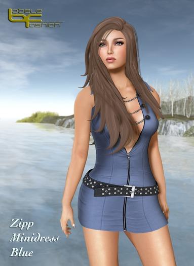 Babele Fashion :: Zipp Minidress Blue