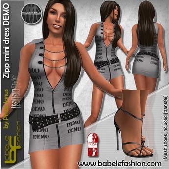 Babele Fashion :: Zipp Minidress Demo