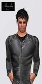 Akaesha's Grey Mens Leather Sports Jacket