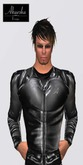 Akaesha's Black Mens Leather Sports Jacket