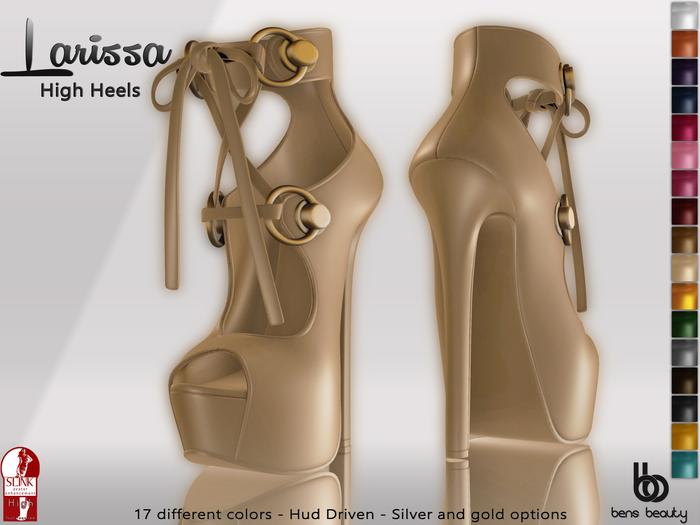 %50 PROMO Bens Boutique - Larissa High Heels (Slink High) -(With Hud)