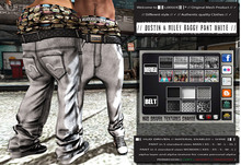 █║▌LOOSER ║▌║® // Dustin & Miley Baggy Pant WHITE BASIC EDITION // HUD MESH // MATERIAL ENABLED & SHINE