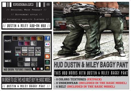 █║▌LOOSER ║▌║® [ BOX ] HUD DRIVEN // Dustin_Miley_Baggy_Pant COLORS FATPACK