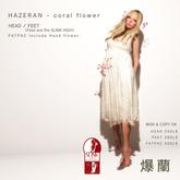 *N*HAZERAN - coral flower HEAD